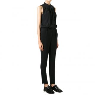 Burberry Brit Women's Black Tie Detail Jumpsuit
