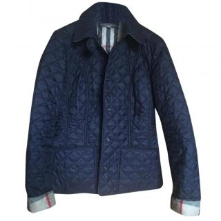 Burberry quilted jacket navy size 8