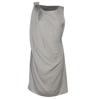 Day Birger & Mikkelsen Asymmetric Gray Zip Collected Dress
