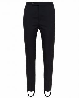 Saint Laurent Black Slim Trousers With Stirrups