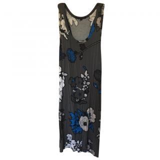 Christopher Kane Grey Floral Dress