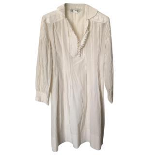 Chloe Cream Silk Dress