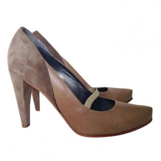 By Malene Birger leather suede heels