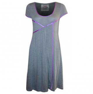 Matthew Williamson Mainline grey Jersey Slip On Dress (uk 10)