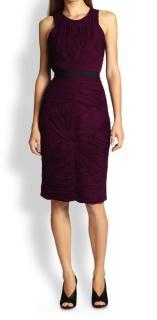 Burberry Women's Purple Ruched Dress