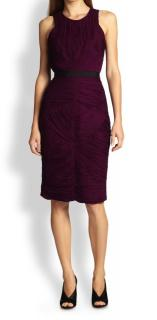 Burberry Women's Purple Ruched Dress