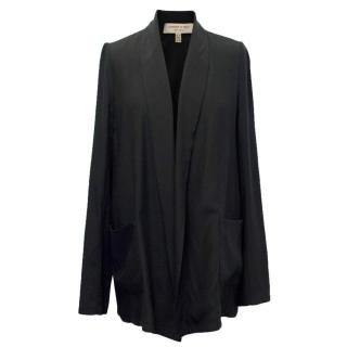 Jasmine Di Milo Black Silk Relaxed Fit Blazer