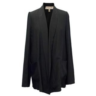 Jasmine Di Milo Black Silk Relaxed Fit Blazer
