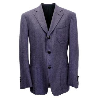 Tom Ford Men's Wool and Cashmere Blend Purple Blazer