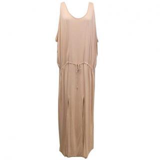 Stella McCartney Nude Pink Long Dress with Drawstring Waist