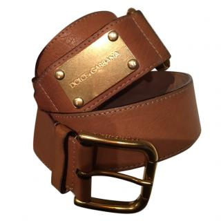 Dolce and Gabbana Ladies Leather Belt