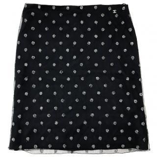Chanel Polka Dot Skirt