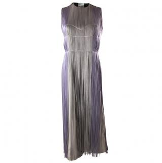 Barbara Cassola Purple Fringe Dress