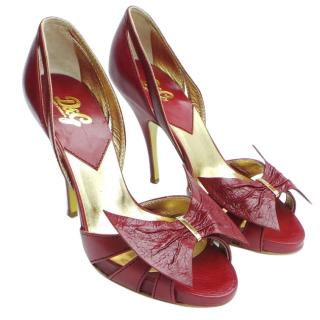 D&G Red Bow Heels