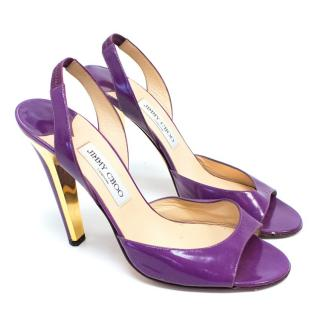 Jimmy Choo Purple High Heel Sandals