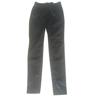 D&G satin skinny fit stretch trousers