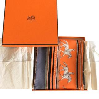 Hermes Vintage Sequences by Caty Latham horses print scarf