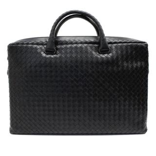 Bottega Veneta Black Briefcase In Black Intrecciato Calf