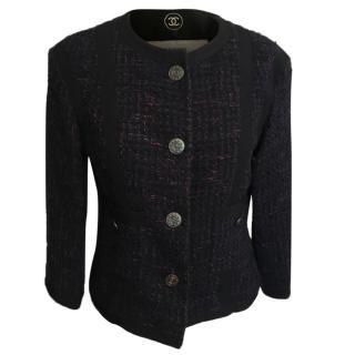 Chanel Navy Blue Boucle Jacket