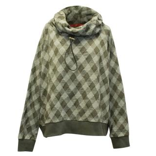 Hilfiger Collection Green Check Pull Over Jumper
