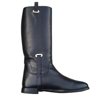Ralph Lauren Purple Label Black Leather Boots Size 37-38 UK4-5