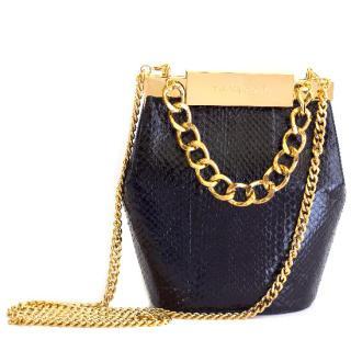 Farah Asmar black mini valerie bucket bag