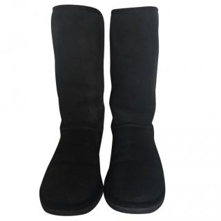 Ugg Australia black suede classic tall boots size 6 (UK 4)