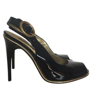 Dolce & Gabbana patent black leather shoes size 36