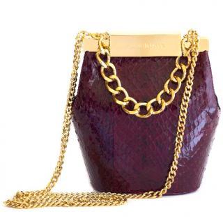 Farah Asmar Bordeaux mini valerie bucket bag