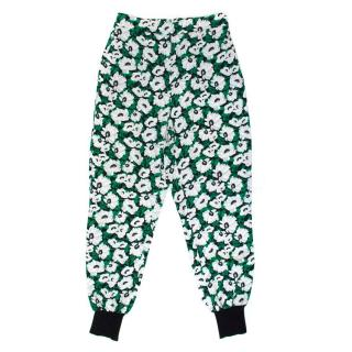Stella McCartney Green Flower Patterned Trousers