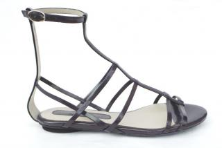Costume Nationale caged flat sandals