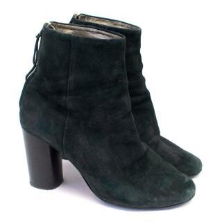 Isabel Marant Black Suede Heeled Ankle Boots