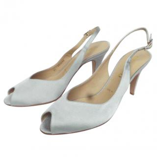 Bruno Malgi satin sling back shoes