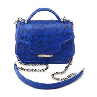 Farah Asmar electric blue mini anabella