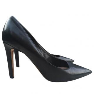 Joseph Black Leather Pumps Shoes 37
