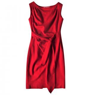 Paul & Joe Red Crepe Dress