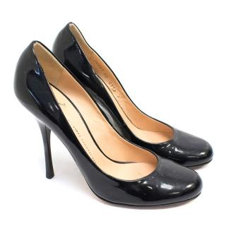 Giuseppe Zanotti Patent Leather Black Pump Heels