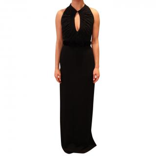 Burberry Black Silk Keyhole Dress
