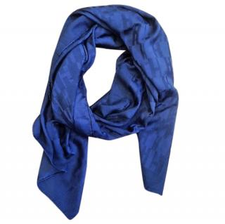 Hermes Solid Navy 'Logo' Scarf/Shawl