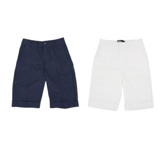 Kids Harrods Two Pairs Of Linen Shorts In Navy And White