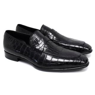 Tom Ford Black Crocodile Leather Loafers