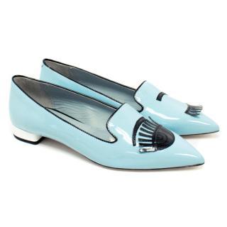 Chiara Ferragni Blue Flirting Slippers