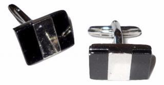 Mont Blanc steel cufflinks