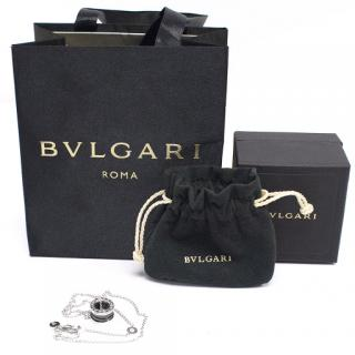 Bvlgari B Zero 18kt White Gold Ceramic Pendant Necklace