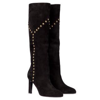 Saint Laurent suede boots