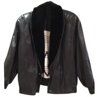 Zilli Men's Leather Jacket with Fur Lining