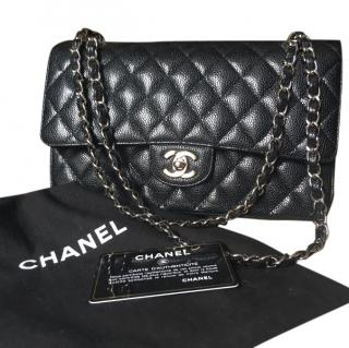 Chanel timeless double flap caviar leather quilted bag