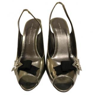 Marc by Marc Jacobs sling back peep toe heels