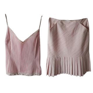 Chanel Pink Top and Skirt Set