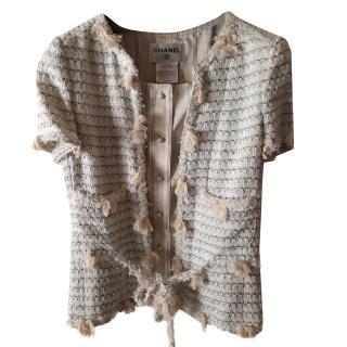 Chanel Short Sleeve Beige Jacket
